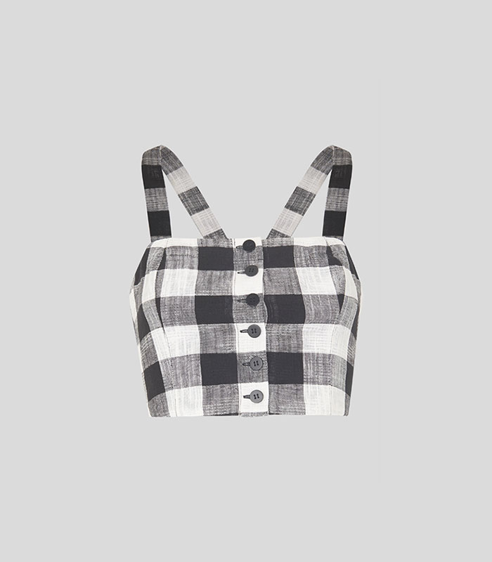 Gingham Button Up Bralette
